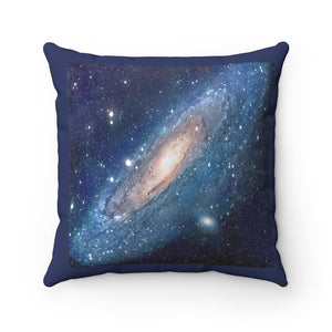Spun Polyester Square Pillow - Andromeda Galaxy - the closes to Earth - NASA HUBBLE - Yunque Store