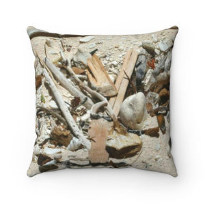 Spun Polyester Square Pillow - Beach sand items - Mona Island PR - The Beauty of Nature - Yunque Store