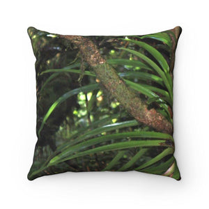 Spun Polyester Square Pillow - Bromeliad lower El Yunque Home Decor Printify