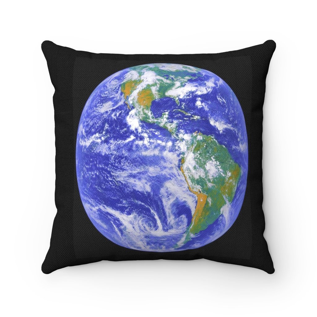 Spun Polyester Square Pillow - Earth from space - NASA HUBBLE - Yunque Store