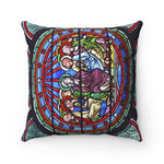 Spun Polyester Square Pillow - Paris Notre Dame - Cathedral - France - Yunque Store
