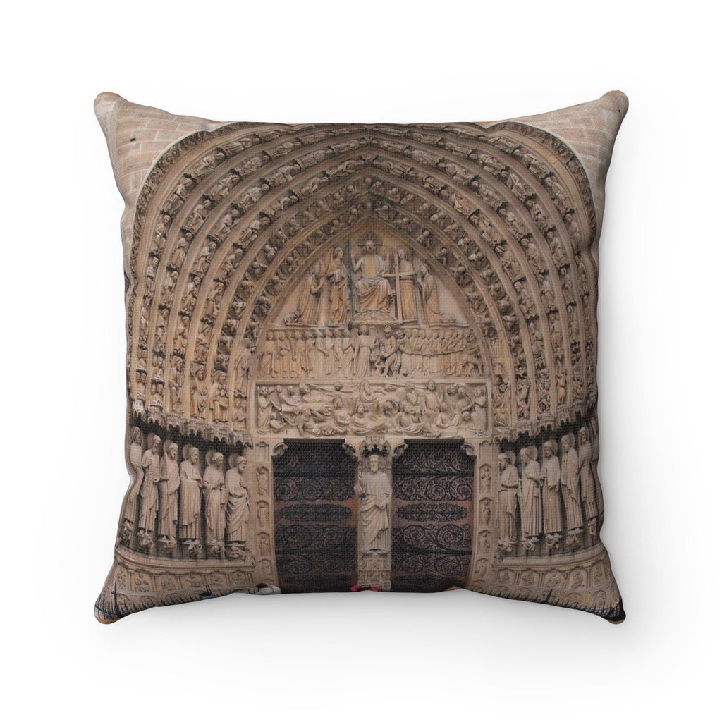 Spun Polyester Square Pillow - Paris Notre Dame - Cathedral - France Home Decor Printify