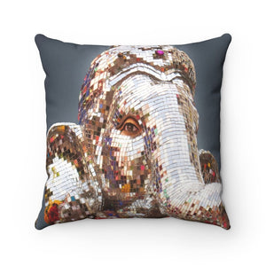 Spun Polyester Square Pillow - Sacred Gods of Ancient India - Ganapati - Yunque Store