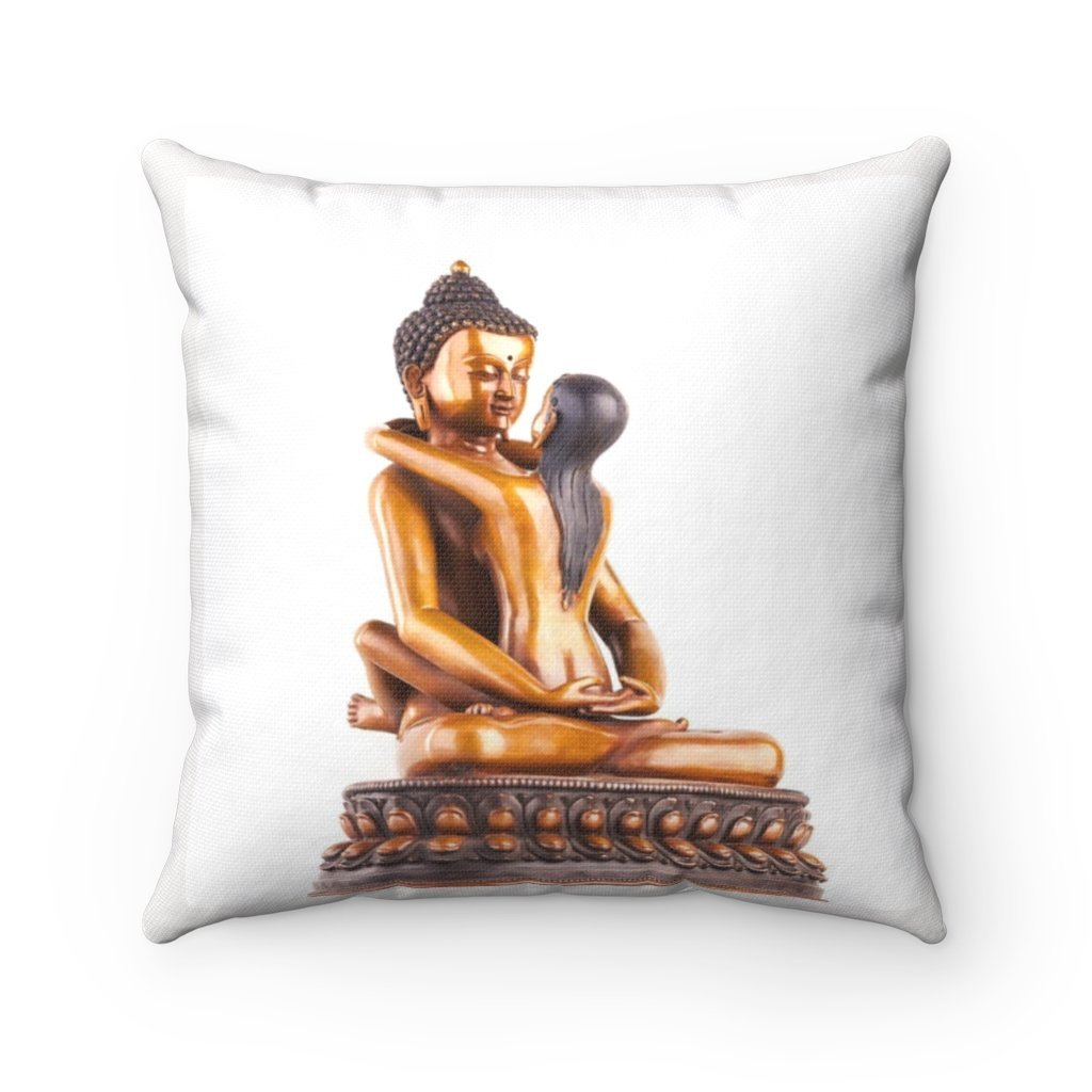 Spun Polyester Square Pillow - Sacred Tantric Buddha image - India - Mature Only - Yunque Store