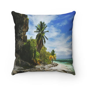 Spun Polyester Square Pillow - The forces and beauty of Nature - Mona Island PR - Yunque Store