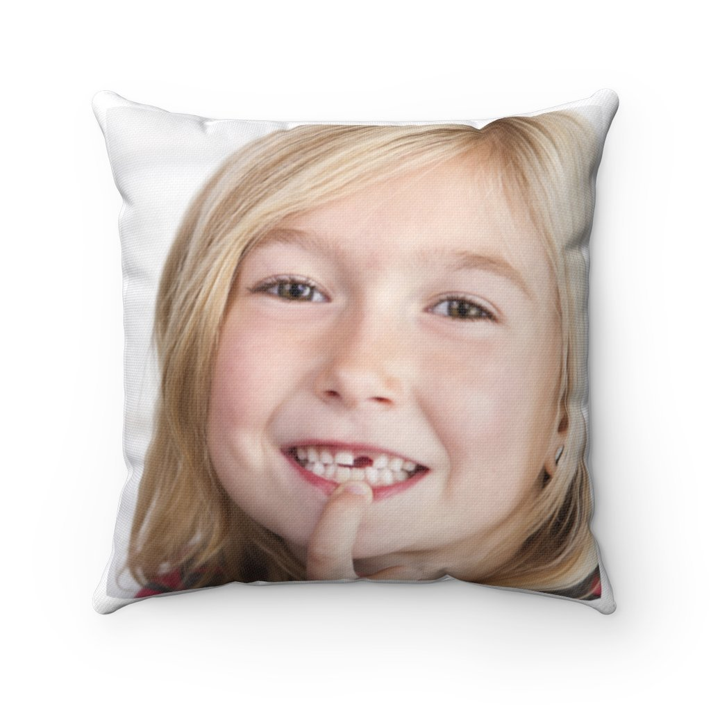 Spun Polyester Square Tooth Fairy Pillow - Fairy on back: YES I Believe in Tooth Fairy's and children too, tooth pillow personalized - Yunque Store