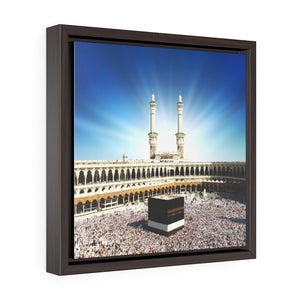 Square Framed Premium Canvas - Glorious Mosque - Kaaba Mecca - Saudi Arabia - UAE - Yunque Store
