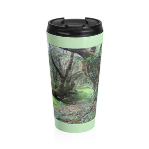 Stainless Steel Travel Mug - Magic path in tradewinds trail - El Yunque rain forest PR - Yunque Store