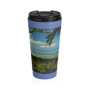 Stainless Steel Travel Mug - View from mountain peak - El Yunque rain forest PR - Yunque Store