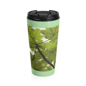 Stainless Steel Travel Mug - Yagrumo tree - El Yunque rain forest PR - Yunque Store
