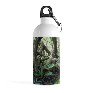 Stainless Steel Water Bottle - Dancing roots in cloud forest EYNF/Baile de raices bosque de nubes El Yunque - Yunque Store
