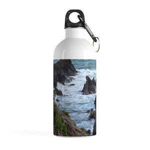 Stainless Steel Water Bottle - Rocky Coast - Palmas de Mar Housing complex - Puerto Rico - Yunque Store