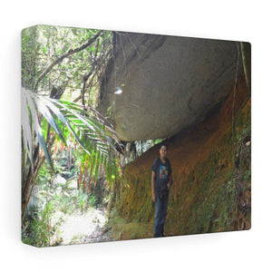 Stretched canvas - UK Print by Prodigi - Explorer Jose in El Yunque tradewinds trail - PR - Yunque Store