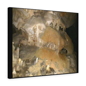 Stretched canvas - UK Print by Prodigi - Pajaros beach caves - Mona Island PR Canvas Printify