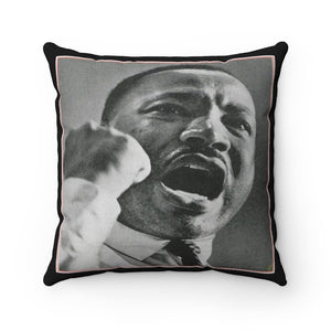 Supporting BLM - Spun Polyester Square Pillow Case - USA Made - Remembering Dr. Martin Luther King - Yunque Store