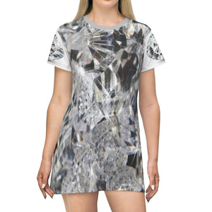 T-shirt Dress - Awesome Diamonds -- show your value and brilliance! - Yunque Store