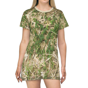 T-shirt Dress - Bamboo dry leaves - El Yunque - Puerto Rico - Yunque Store