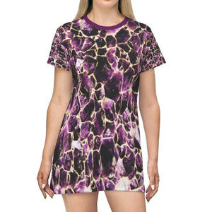 T-shirt Dress - Mineral crystal formations shows the inner beauty of the Earth All Over Prints Printify
