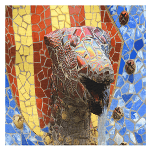 Tablecloths - Mosaic Fountain in Spanish Park by Famous Architect Gaudi - Yunque Store