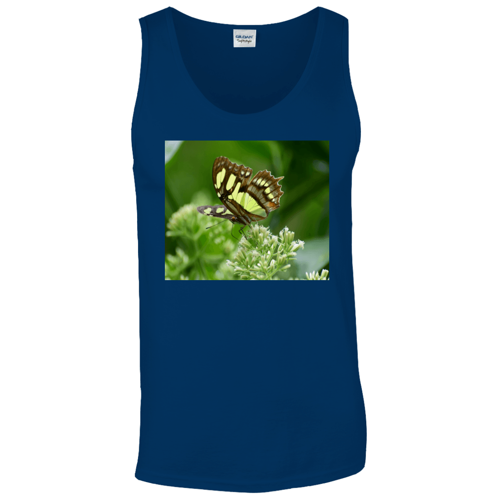 Tank Tops - Butterfly and View from Yokahu tower - El Yunque rain forest PR AwsomeRainForest@Home