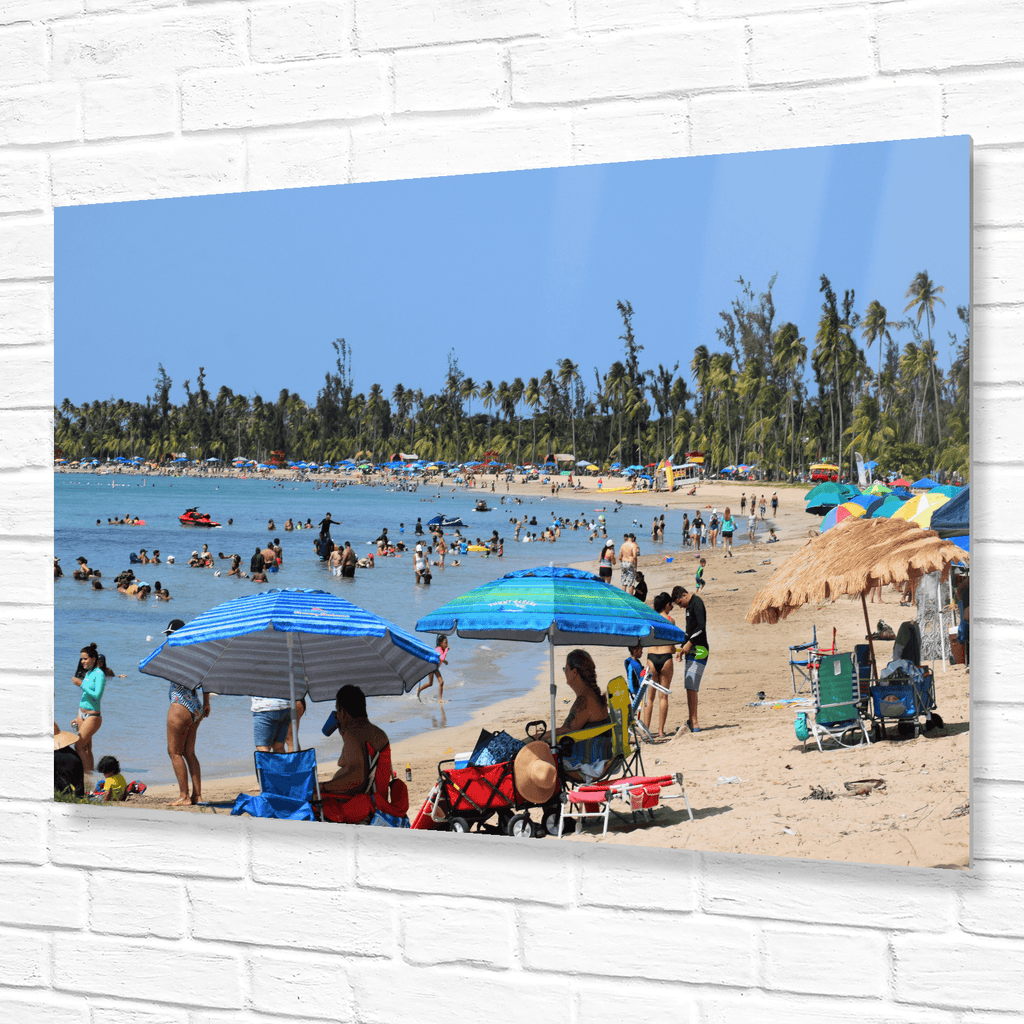The popular Luquillo beach (La Monserrate) on PR-3 road - near El Yunque rainforest and Fajardo Puerto Rico - Yunque Store