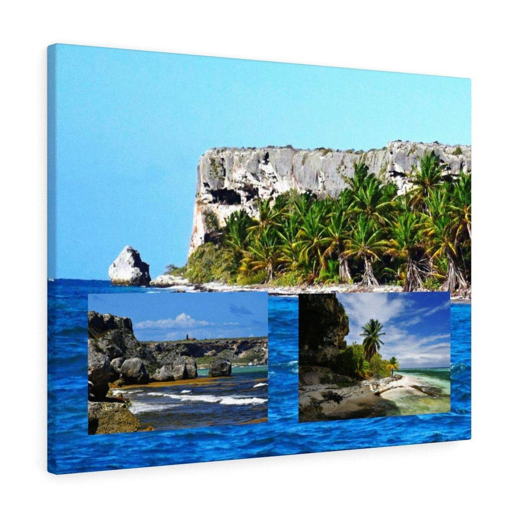 Three for price of one - Breathtaking Mona Island off Puerto Rico - the Galapagos of the Caribbean - Thrilling Pajaros beach Canvas Printify