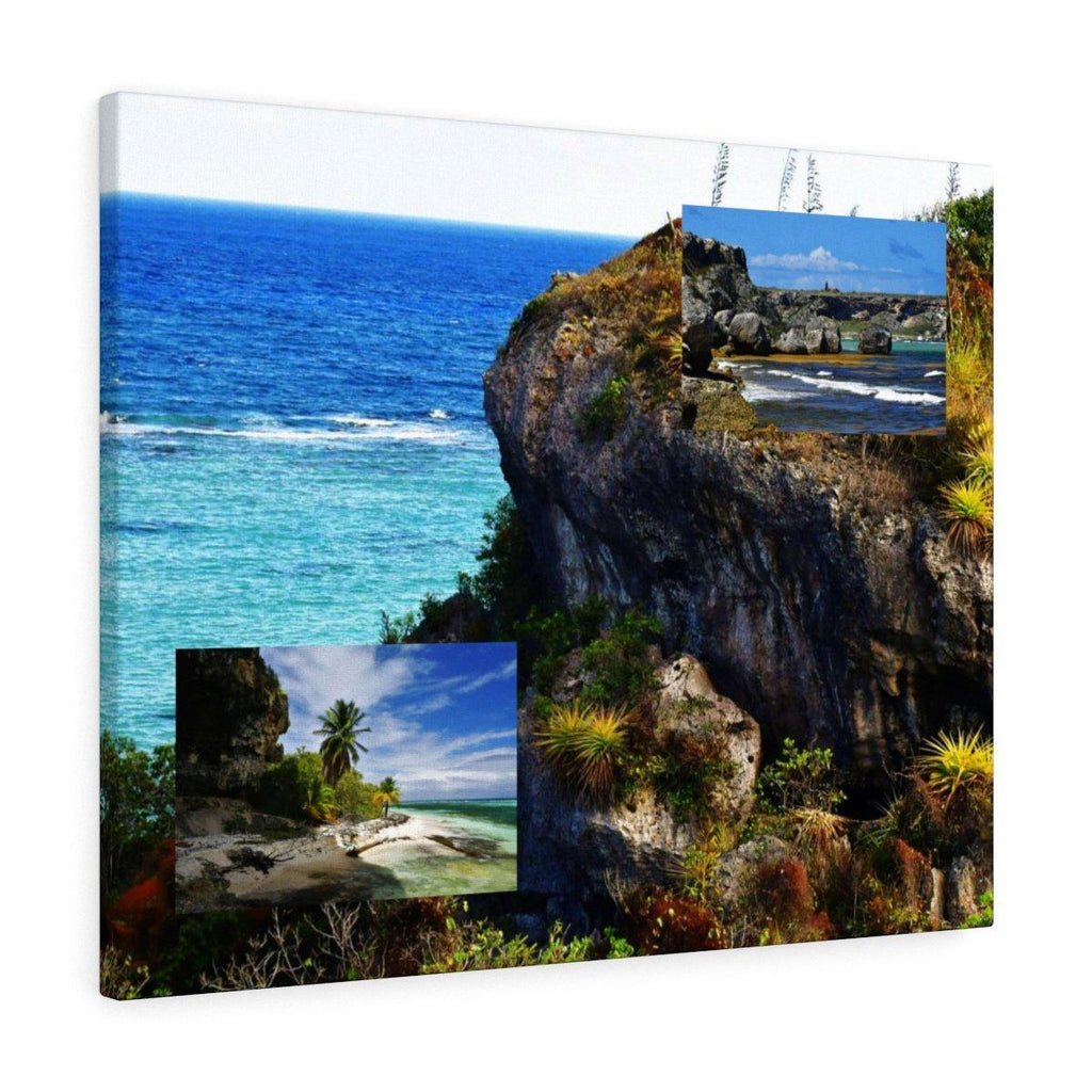 Three for price of one - Mona Island off Puerto Rico - the Galapagos of the Caribbean - Thrilling Pajaros beach Canvas Printify