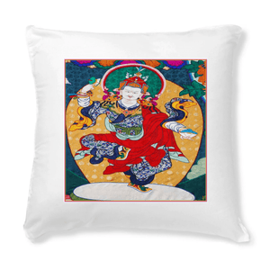 Tibetan Art Cushions 😇 - 40 x 40 cm - Made in France - Buddha dances with JOY and Bliss of Cosmic Oneness - Yunque Store