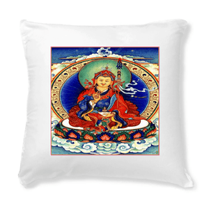 "Tibetan Buddhist Art Cushions - Guru Rinposhe - 40 x 40 cm - Made in France - Padmasambhava is venerated as the ""second Buddha"" by the Nyingma school - Yunque Store"
