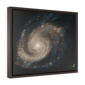 TOP DEAL - Horizontal Framed Premium Gallery Wrap Canvas - The M51 Whirpool Galaxy - a NASA image composite - about 20 M light-years away. - Yunque Store