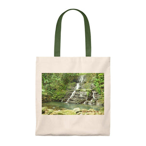 Tote Bag - Vintage - Waterfall deep in the forest - El Yunque rain forest PR Bags Printify