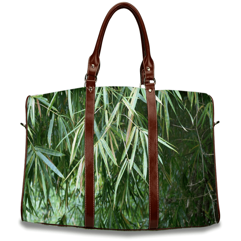Travel Bags - Bamboo leaves with fores in backgrounds in Rio Sabana park - El Yunque rain forest PR AwsomeRainForest@Home