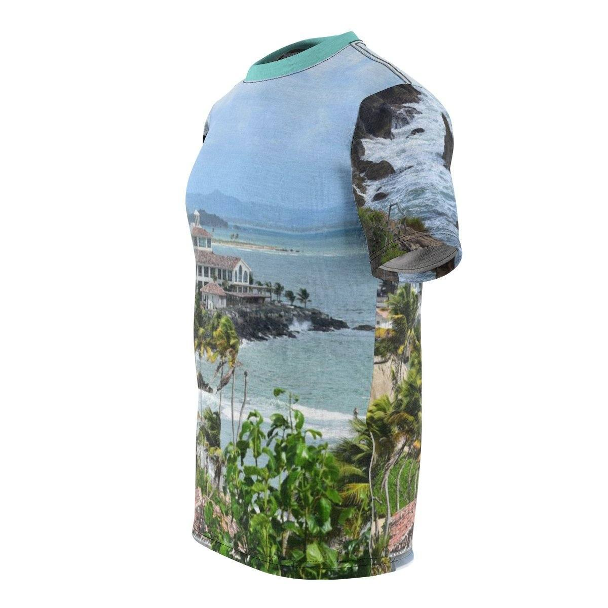 Unisex AOP Cut & Sew Tee - Awesome Palmas de Mar villa in Humacao PR All Over Prints Printify