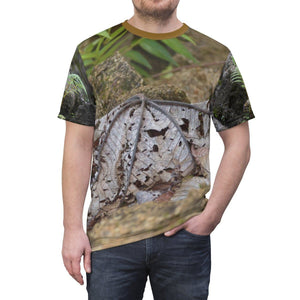 Unisex AOP Cut & Sew Tee - Dry Yagrumo leaves - in El Yunque rain forest - Rio Sabana Park landslide - PR All Over Prints Printify