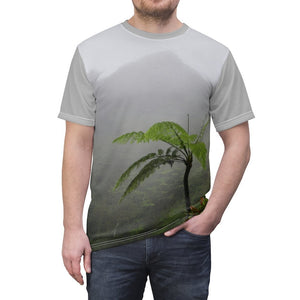 Unisex AOP Cut & Sew Tee - Nature@Me - Spun Polyester Square Pillow - High Mountain Fern Palm in the cloud forest - Toro Negro rainforest Park Over 4,000 feet altitude - Highest in Puerto Rico - Yunque Store