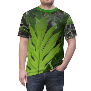 Unisex AOP Cut & Sew Tee - Pana tree in Rio Sabana park - El Yunque rain forest PR All Over Prints Printify