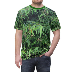 Unisex AOP Cut & Sew Tee - Rio Sabana park Bamboo tree - El Yunque rain forest PR All Over Prints Printify