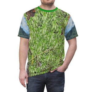 Unisex AOP Cut & Sew Tee - Star shaped moss of the cloud forest - El Yunque rainforest PR All Over Prints Printify