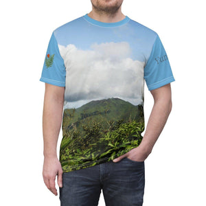 Unisex AOP Cut & Sew Tee - Views of El Yunque rain forest Puerto Rico All Over Prints Printify