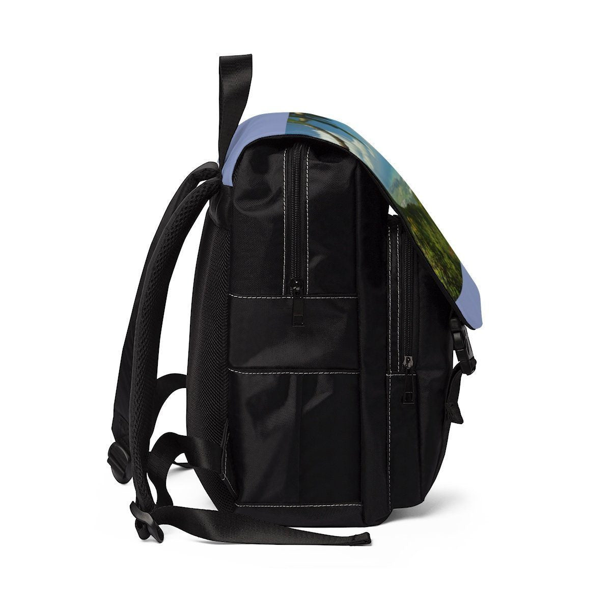 Unisex Casual Shoulder Backpack - Awesome view Three Peaks tower in EYNF Bags Printify