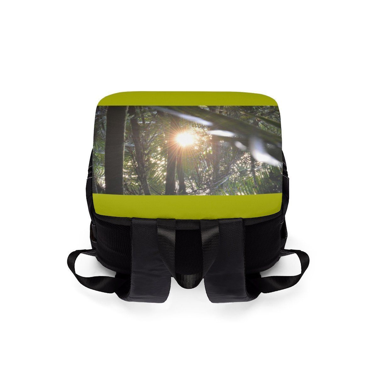 Unisex Casual Shoulder Backpack EYNF - Sunset in cloud forest Bags Printify