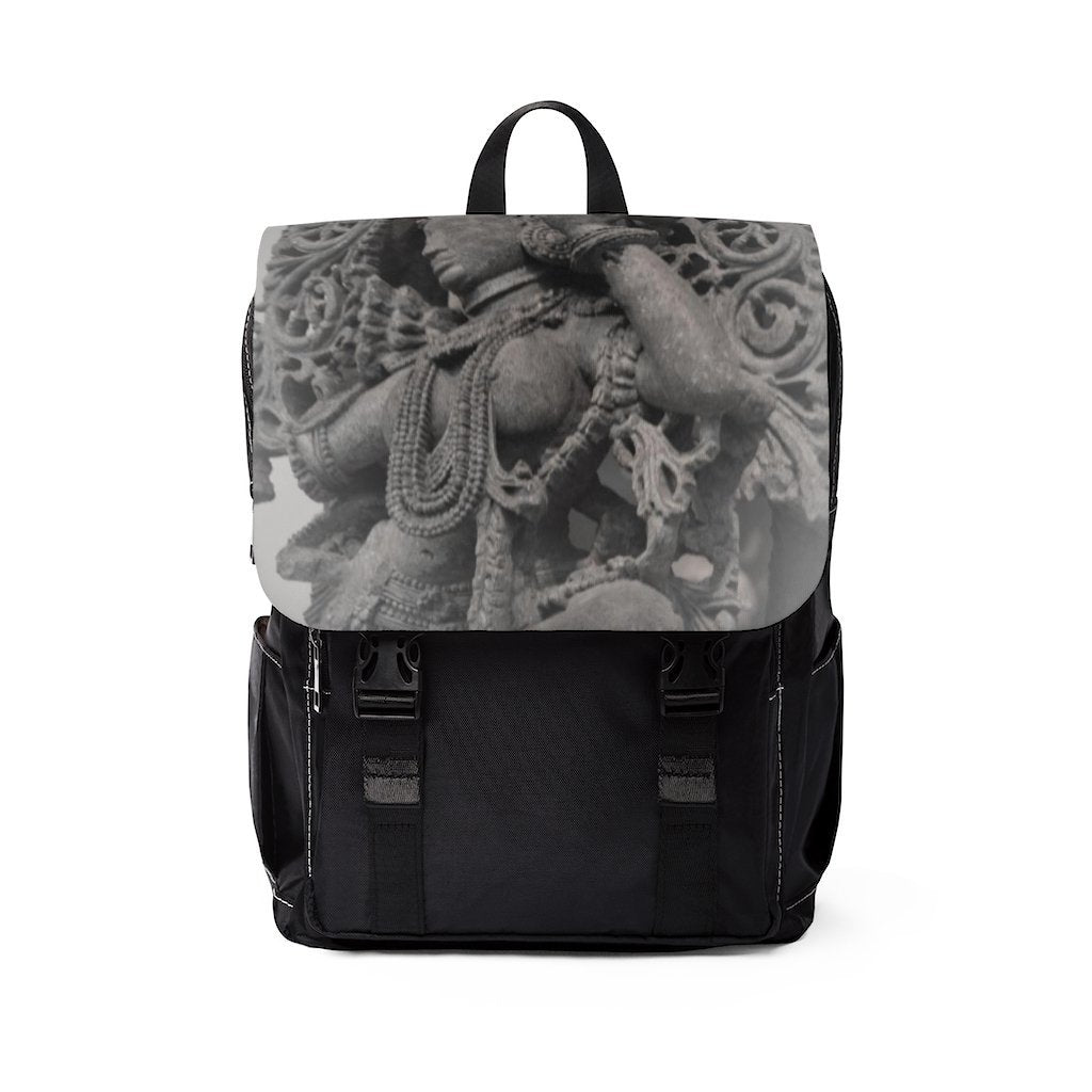 Unisex Casual Shoulder Backpack - Hindu Goddess of sacred dances and love - Yunque Store