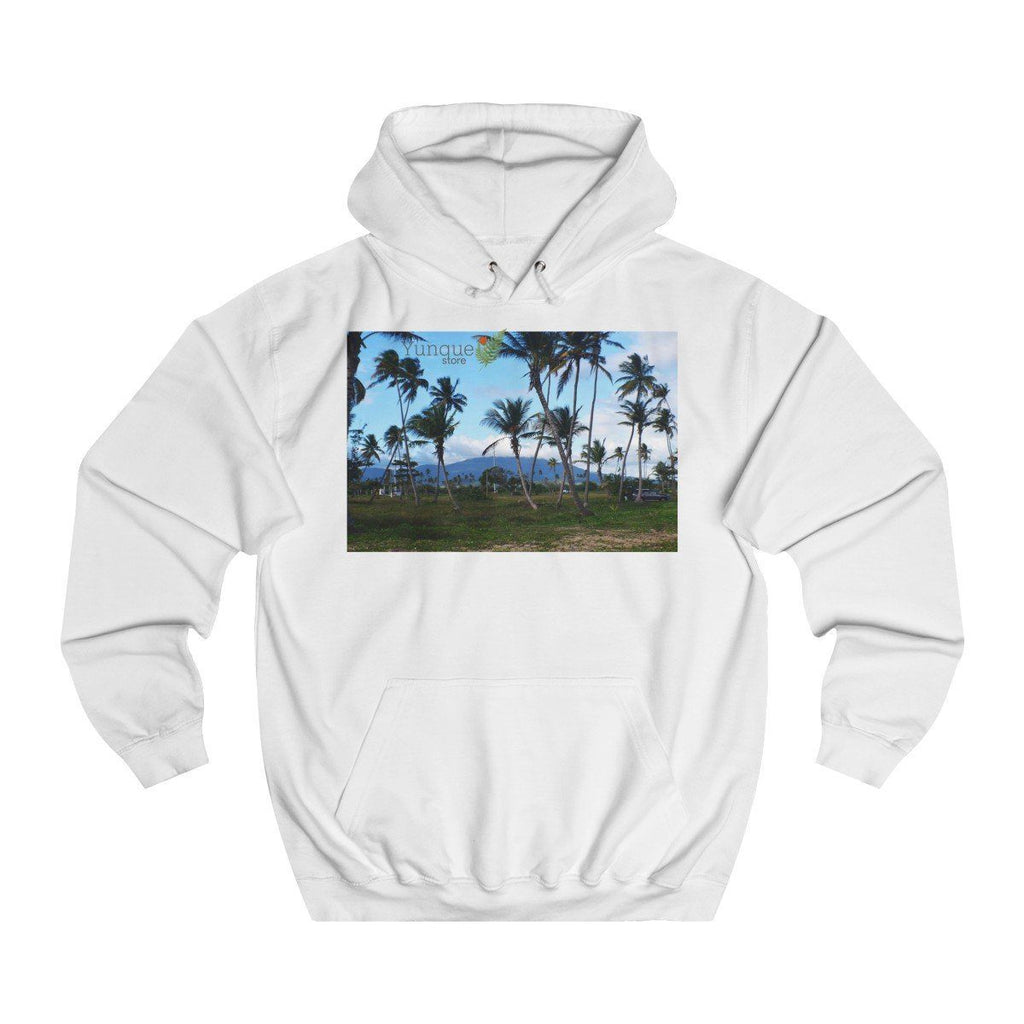 Unisex College Hoodie - Views of El Yunque rain forest in Puerto Rico - Printed By OPT OnDemand - in the Czech Republic Hoodie Printify