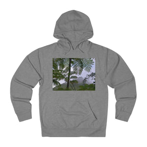 Unisex French Terry Hoodie - El Yunque forest and waterfall / Bosque del Yunque y catarata Hoodie Printify