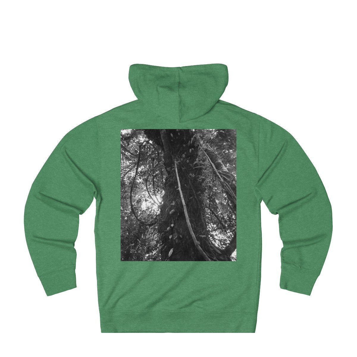 Unisex French Terry Hoodie - EYNF - Hiking up El Yunque Trail and Ancient huge Colorado tree on tradewinds 2015 Hoodie Printify