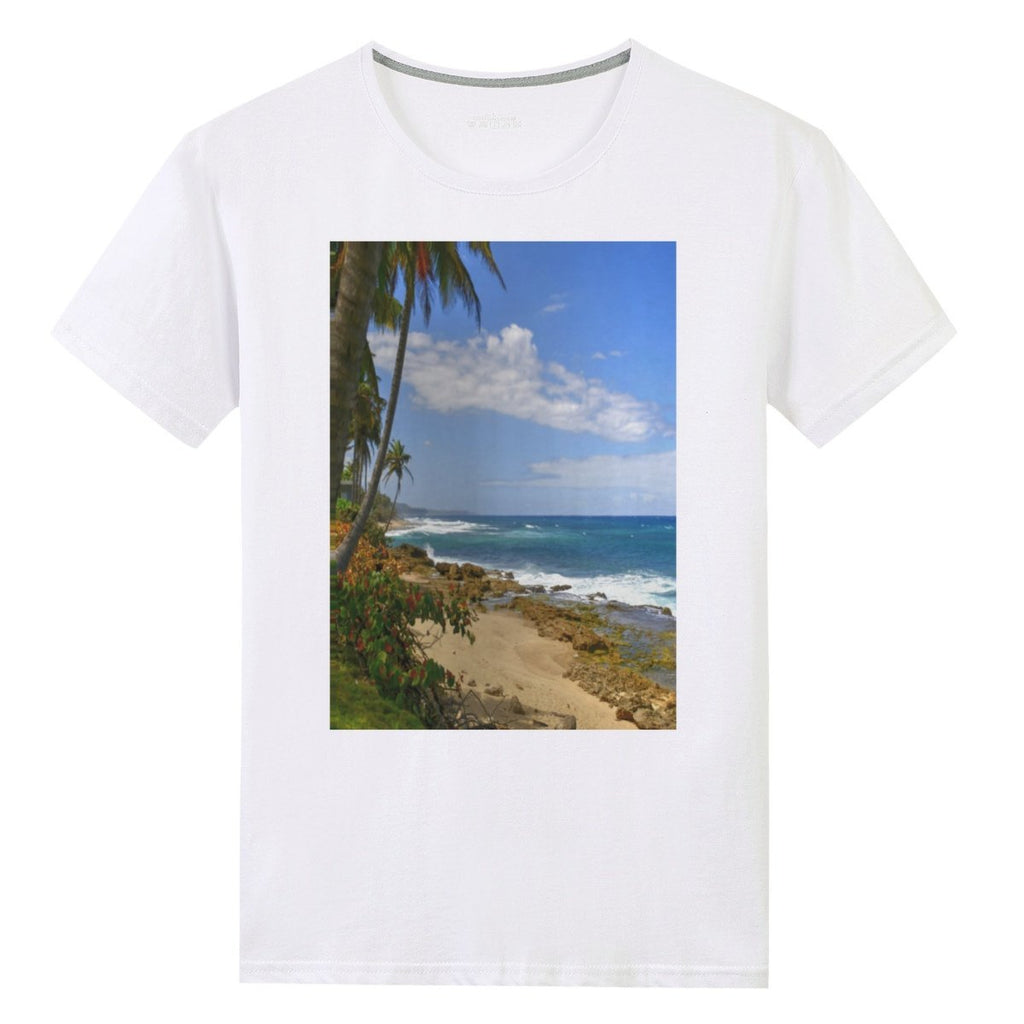 🌴 UNISEX Gildan 76000 Cotton T-shirts - Beautiful beach near Arecibo - World Class BEACHES of Puerto Rico - Yunque Store