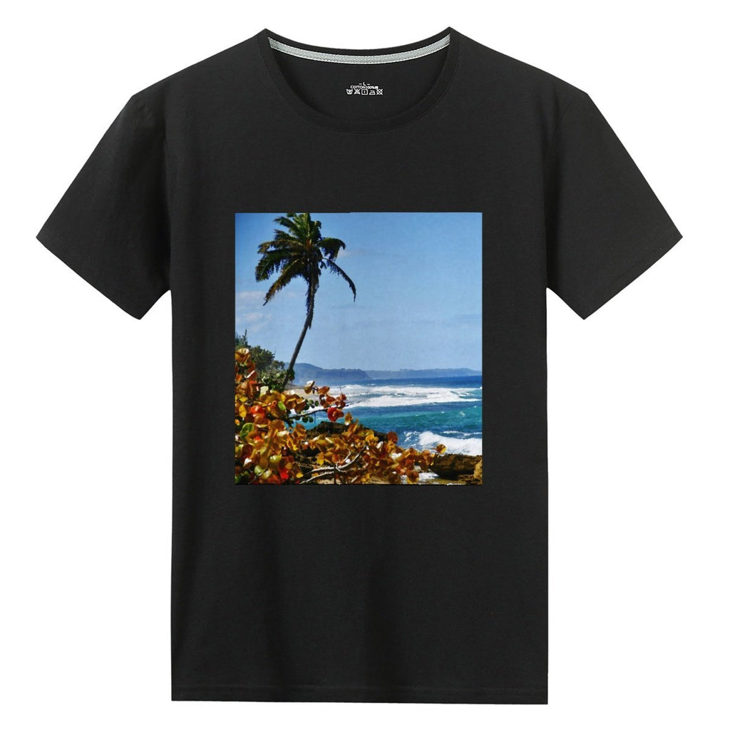 UNISEX Gildan 76000 Cotton T-shirts - Hidden beach near Arecibo - AWESOME World Class Beaches of Puerto Rico 🌴🌊🌴 - Yunque Store