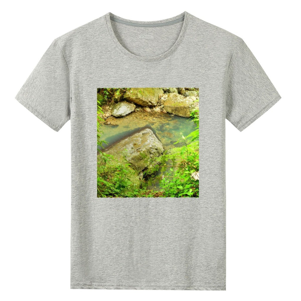 UNISEX Gildan 76000 Cotton T-shirts - Magic Pond in El Yunque rainforest 🌴🌴🌴 awesome La Mina river - in Tropical Puerto Rico - Yunque Store