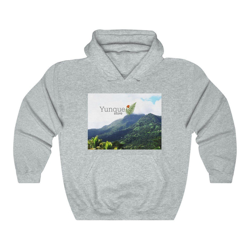 Unisex Heavy Blend™ Hooded Sweatshirt - Gildan 18500 - Views of El Yunque rainforest Puerto Rico Hoodie Printify