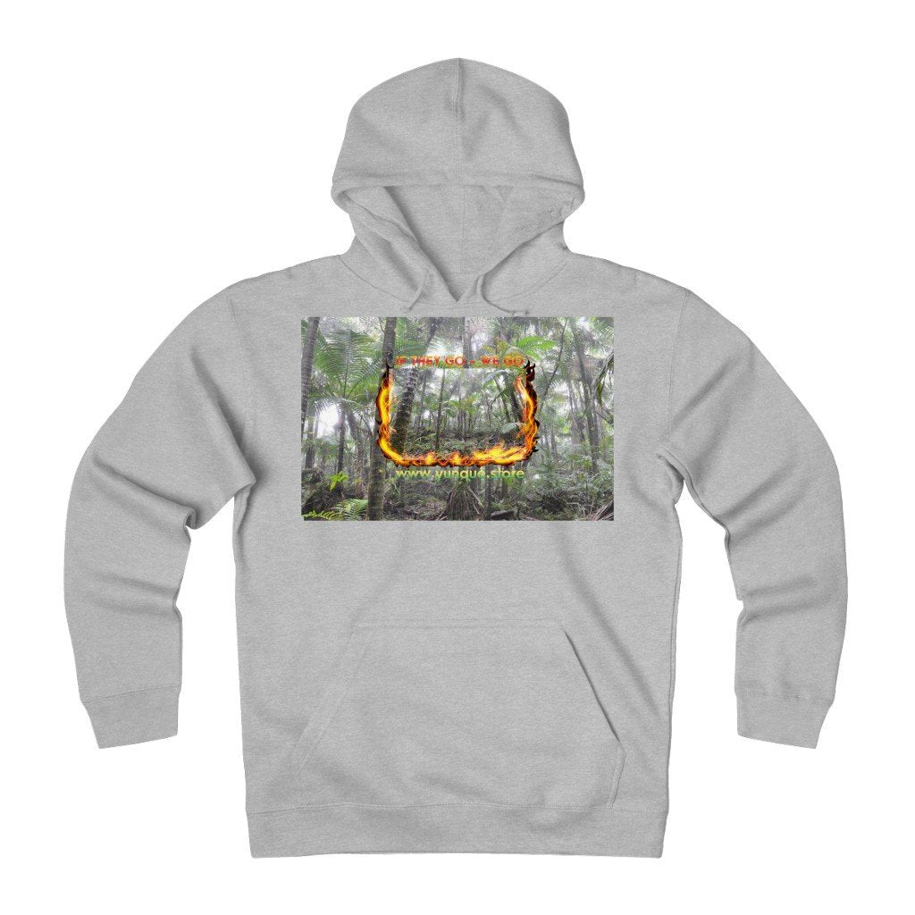 Unisex Heavyweight Fleece Hoodie - Logo with Cloud Forest in El Yunque rain forest PR - Yunque Store